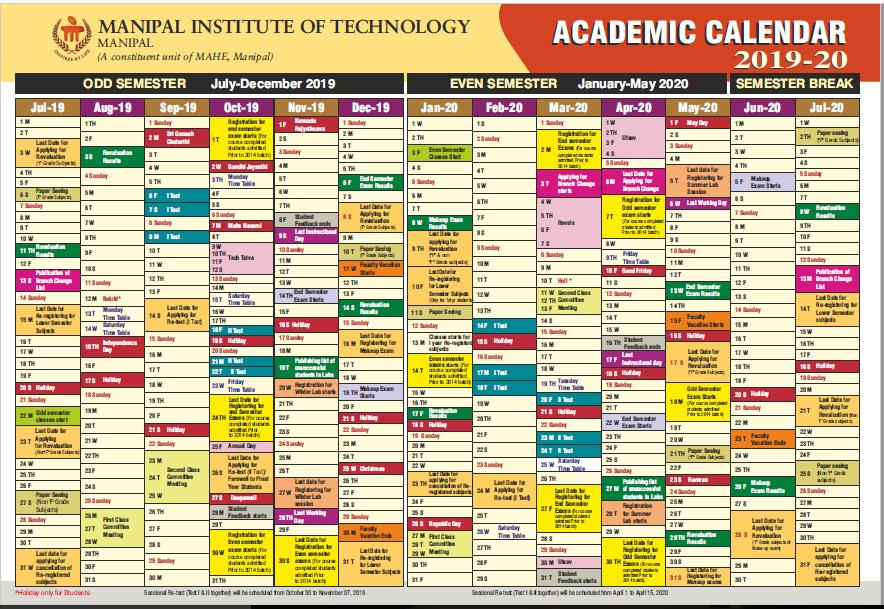 Mit Academic Calendar 2020 MIT Academic Calendar (2019 20)   The MIT Post